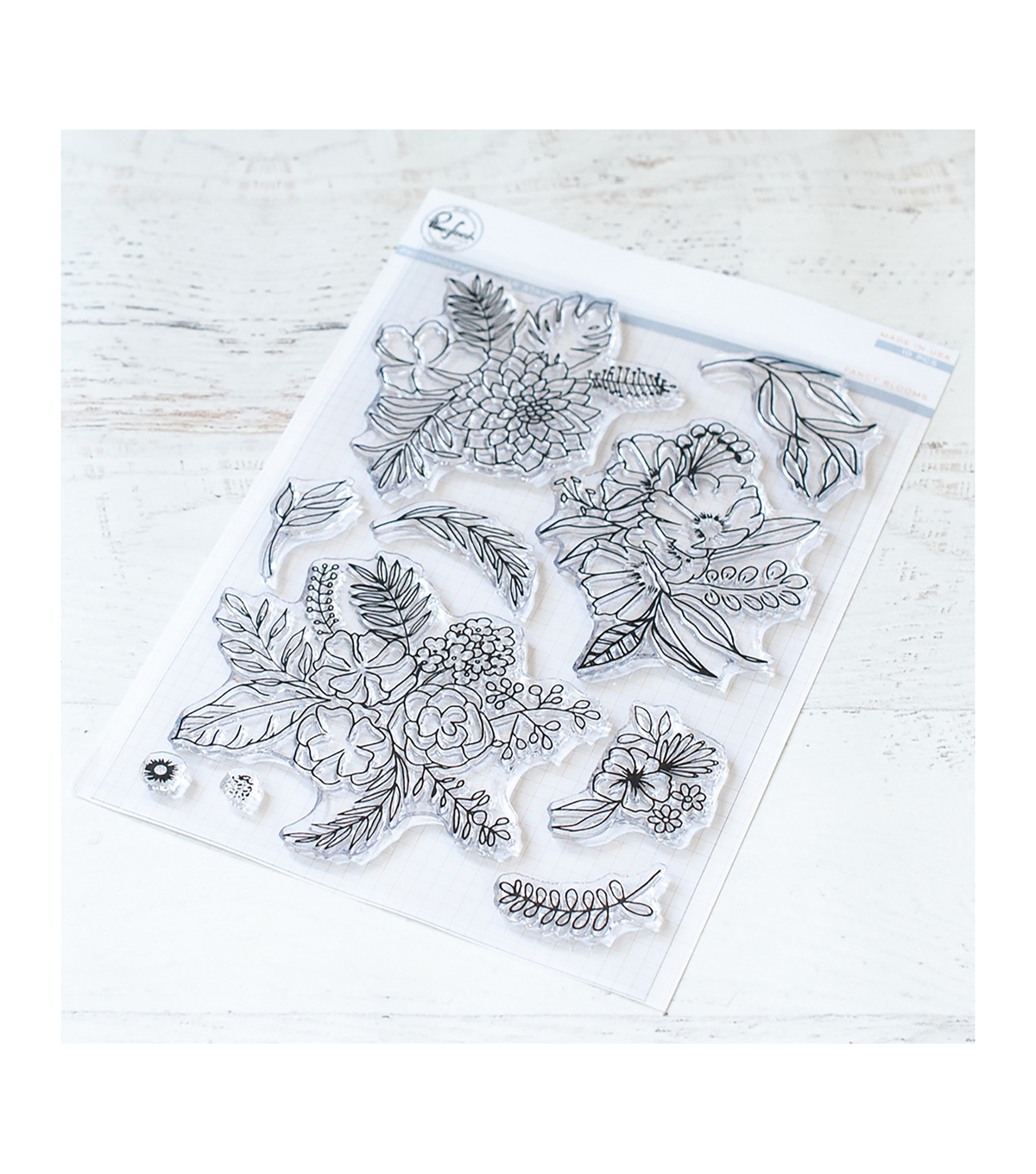 Pinkfresh Studio 10 pk Photopolymer Clear Stamps-Fancy Blooms