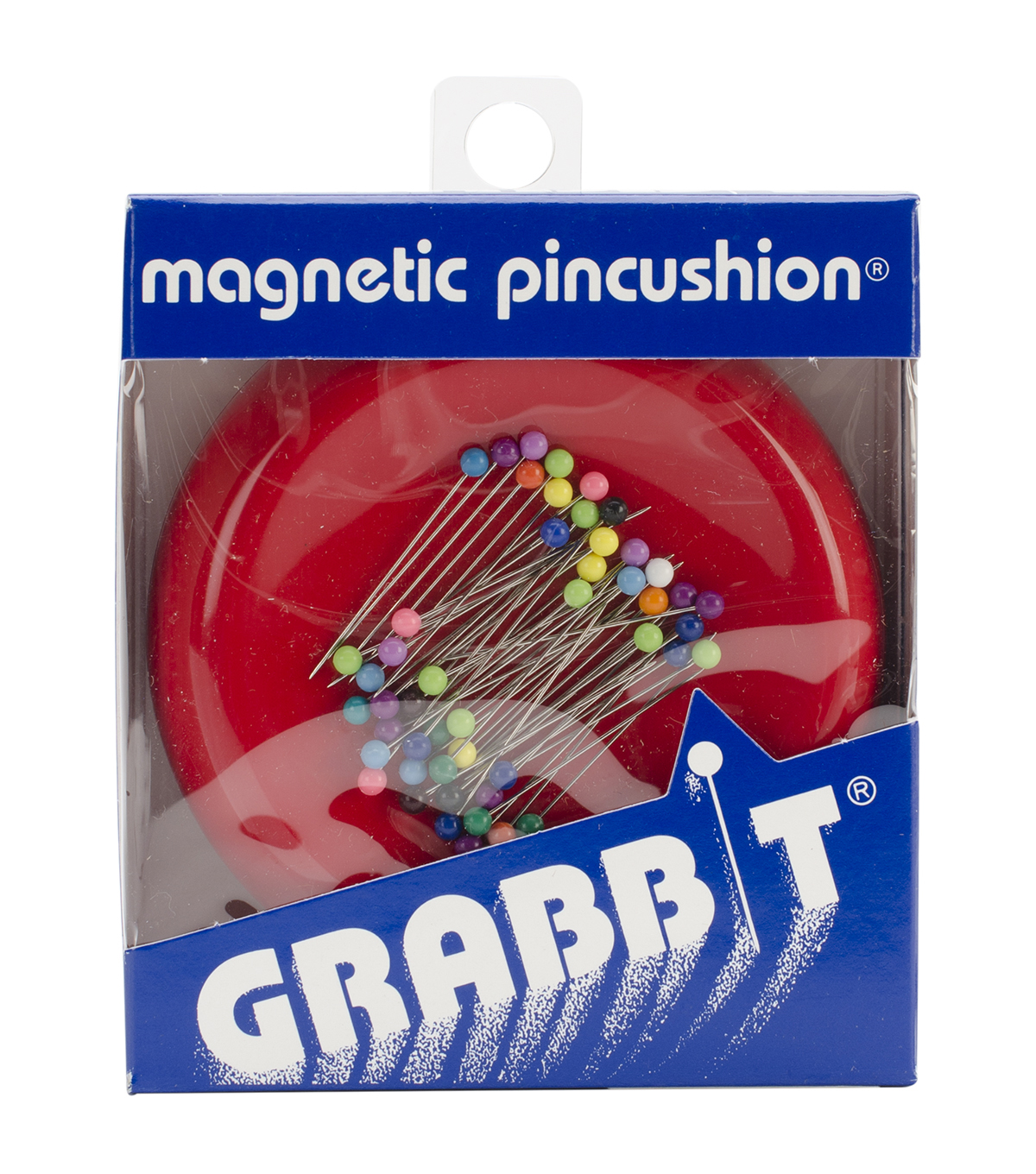 Grabbit Magnetic Pincushions with 50 Pins, Red