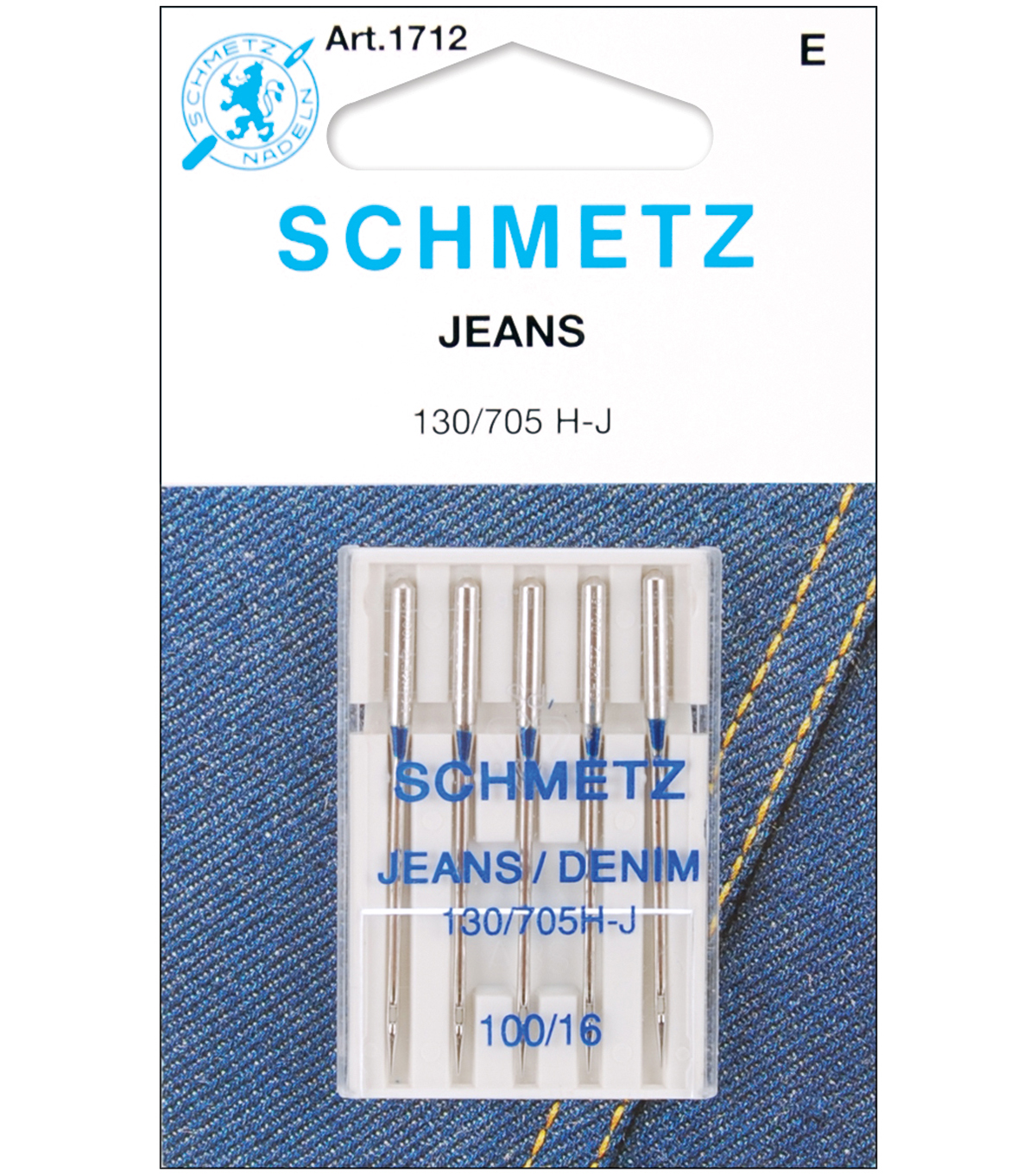 Schmetz Universal Point Machine Needles 5pcs Size 100/16, Size 16/100