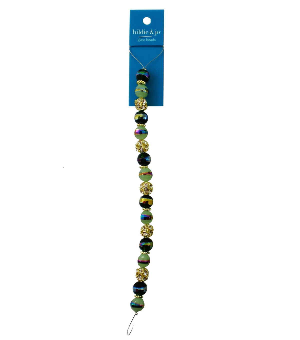 hildie & jo 7\u0027\u0027 Glass Strung Beads-Dark Green