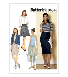 Butterick Misses Skirt-B6326