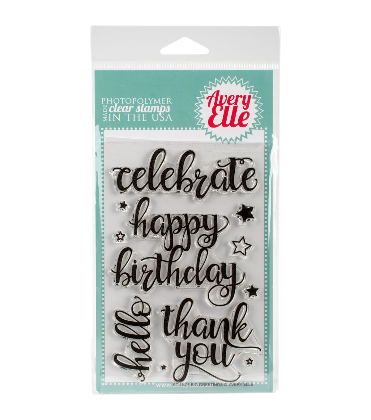 Avery Elle 12 pk Clear Stamps-Big Greetings