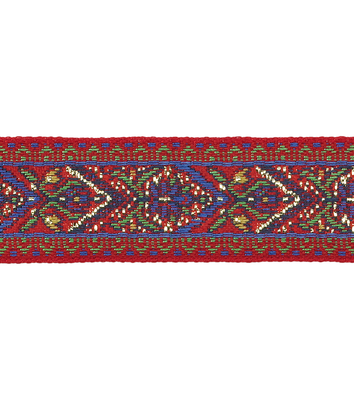 Simplicity Trims-3/4\u0022 Multi Red Blue Green Woven Band