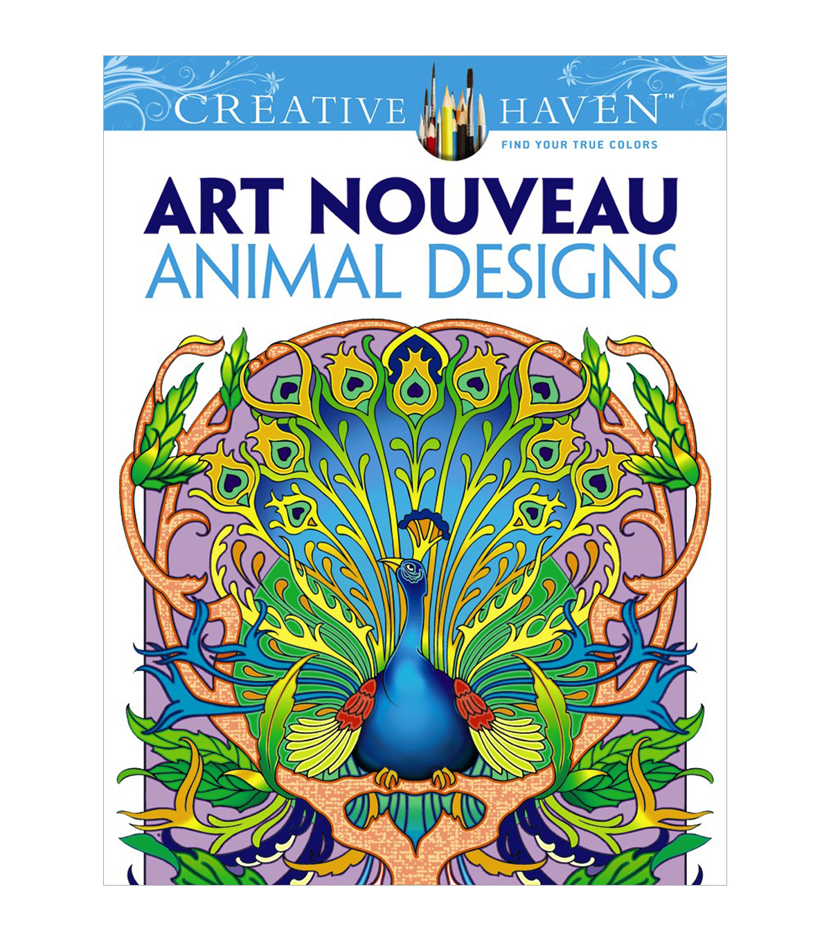 Dover Creative Haven Art Nouveau Animal Coloring Book