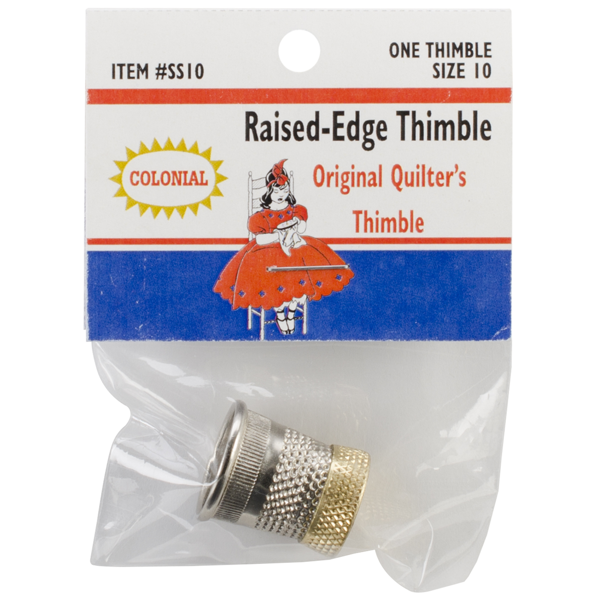 Raised-Edge Thimble-Size 10