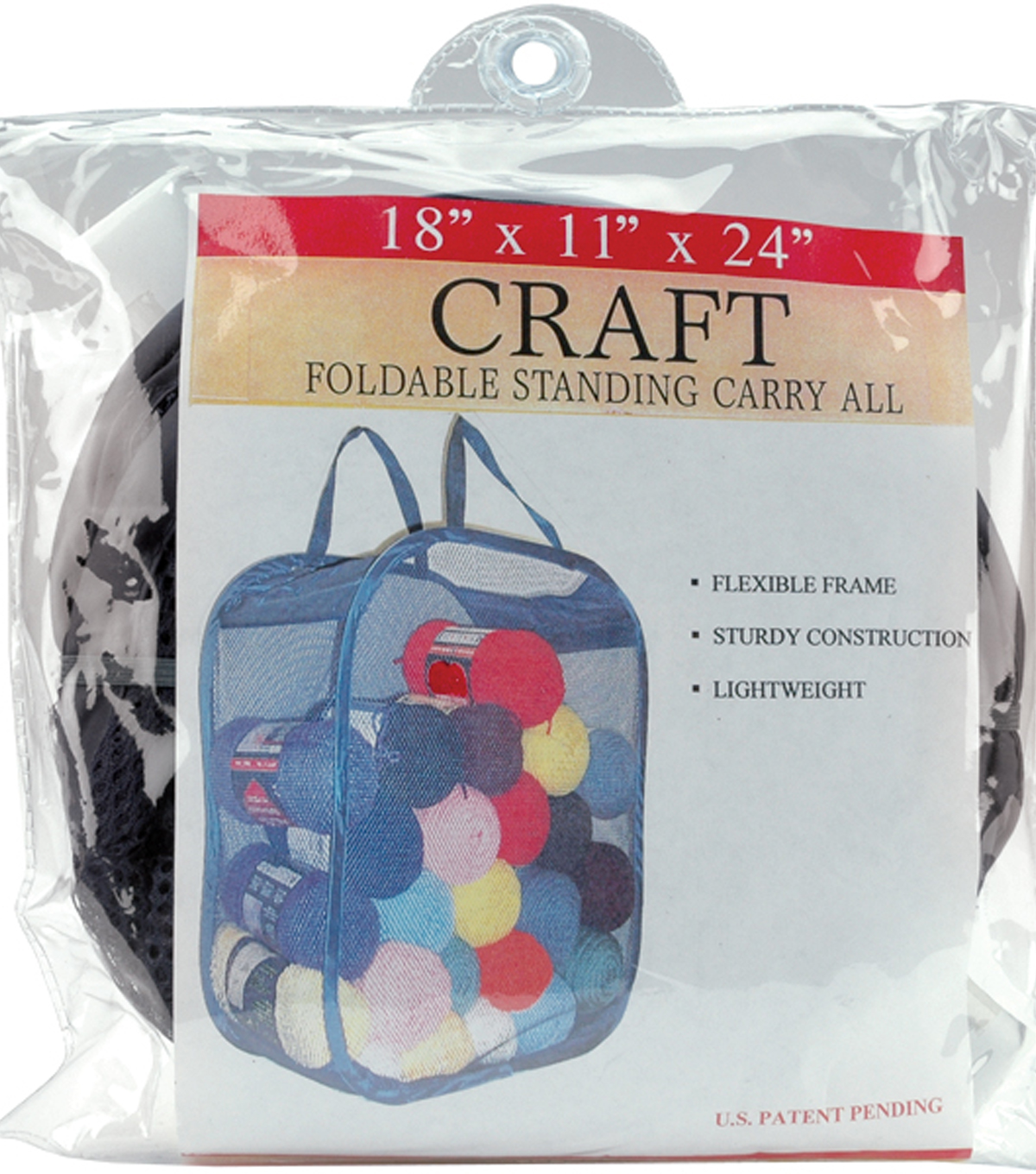 Foldable Standing Carry All 18\u0022X11\u0022X24\u0022-Black