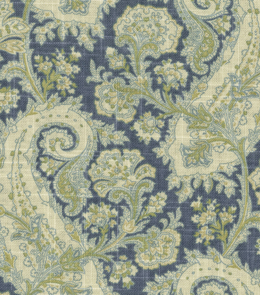 Waverly Multi-Purpose Decor Fabric 54\u0022-Porch Paisley Chambray