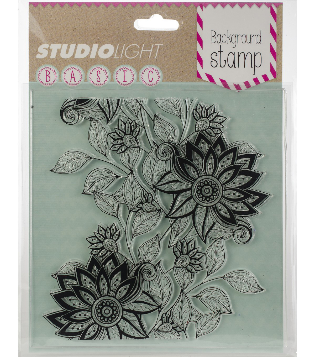 Studio Light Basic 5\u0022X5\u0022 Background Stamp-Floral