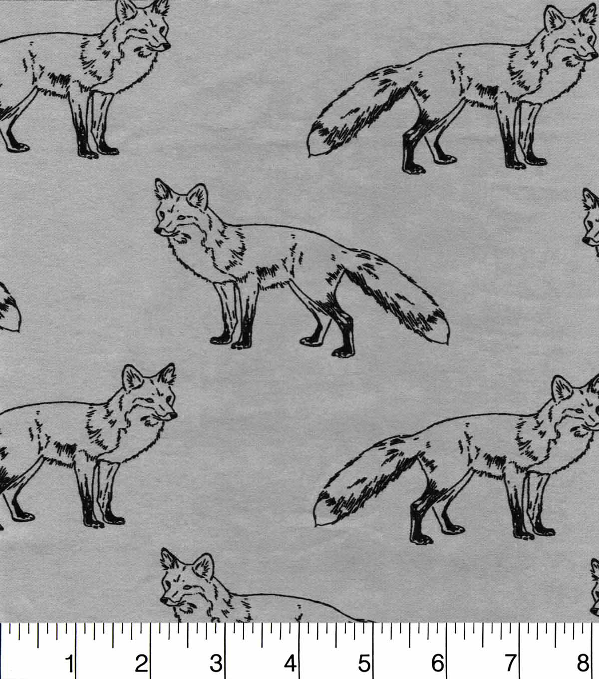 Snuggle Flannel Fabric 42\u0022-Sketched Fox Blue