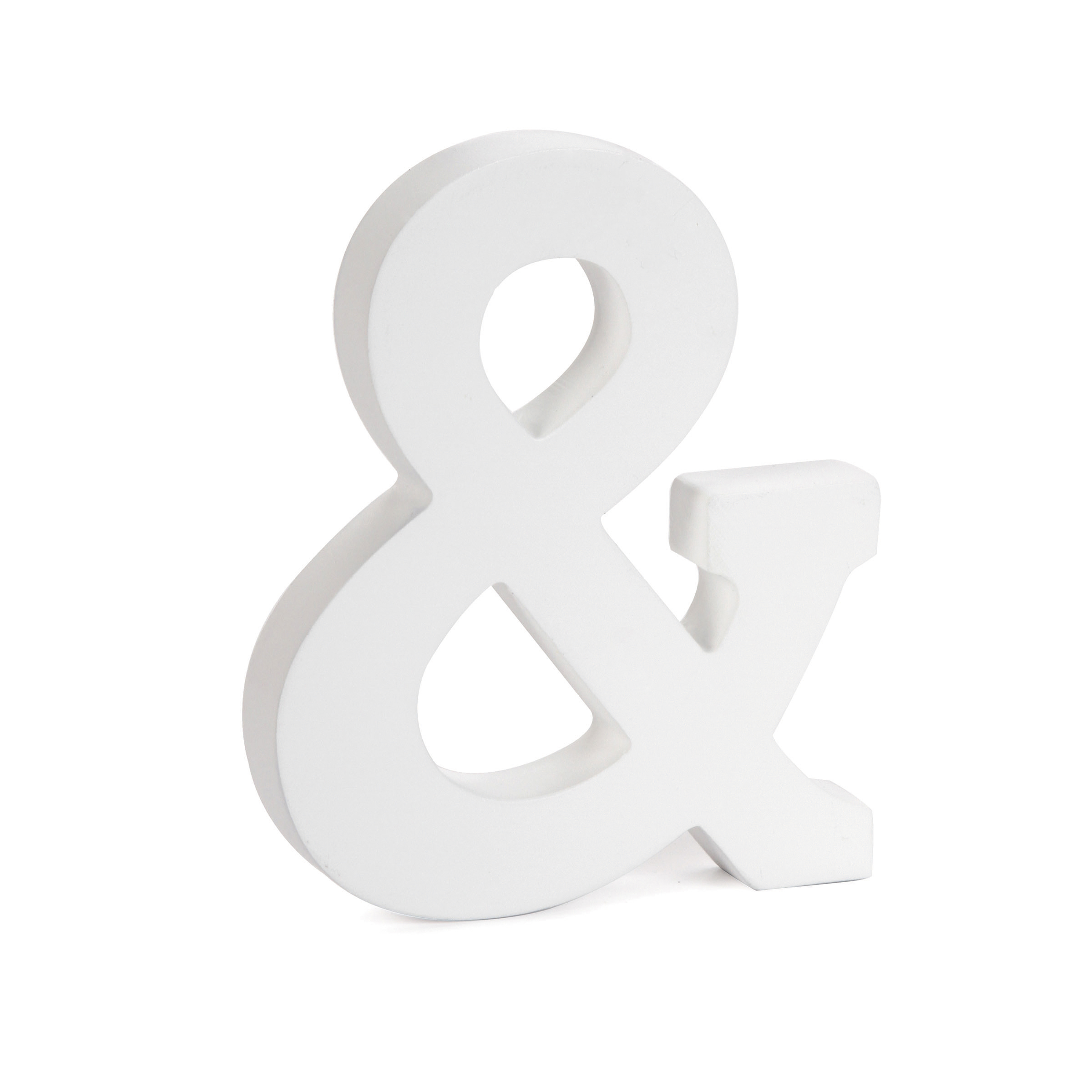 6 inch White Wood Letter Ampersand