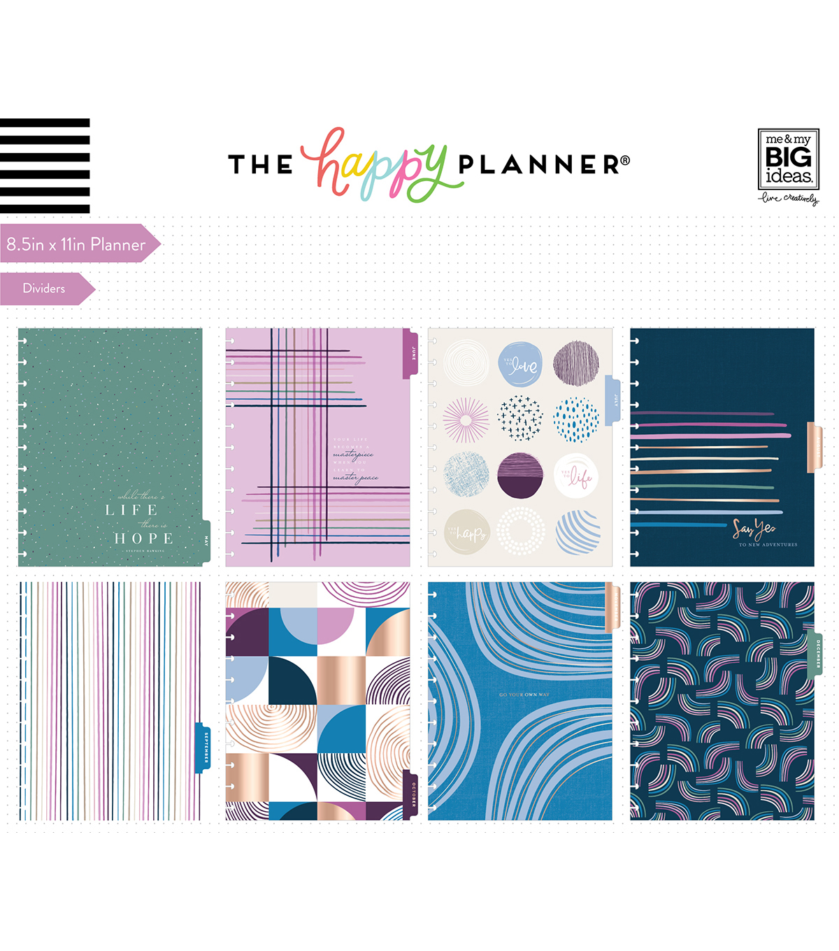 The Happy Planner Big 2020 Dated Planner-Jujube Geo Dreams