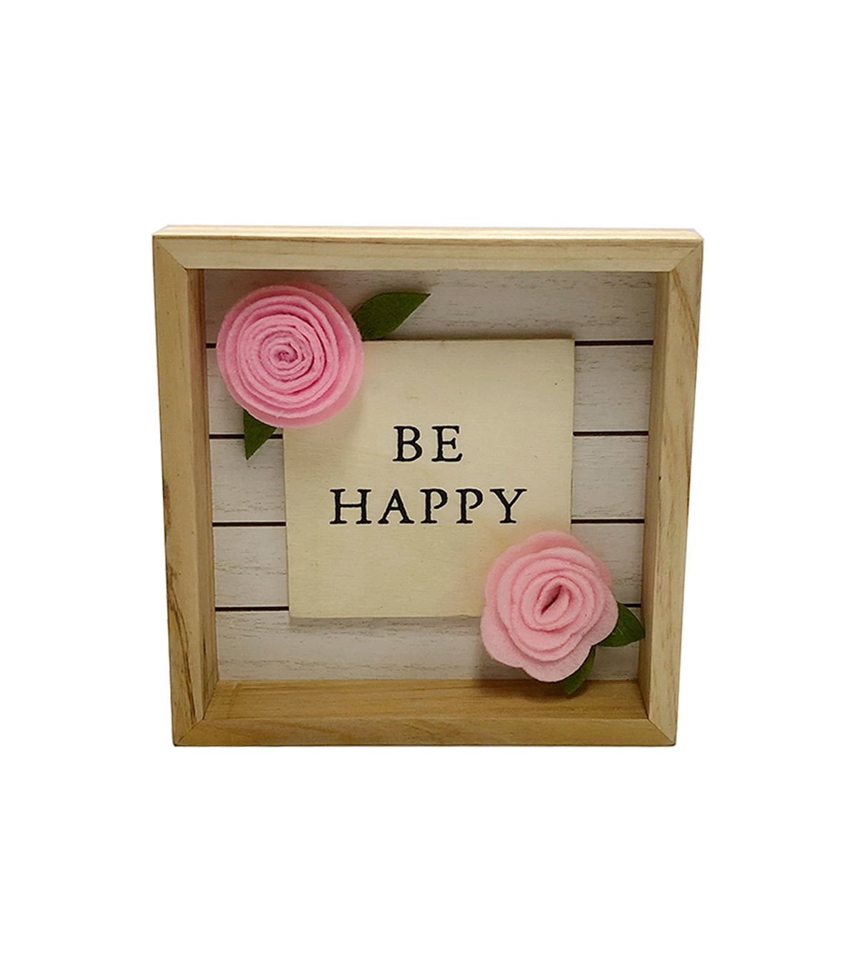 Simply Spring Wall Decor-Be Happy on Natural