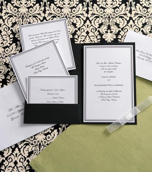 Wilton Elegance Invitation Kit Black White