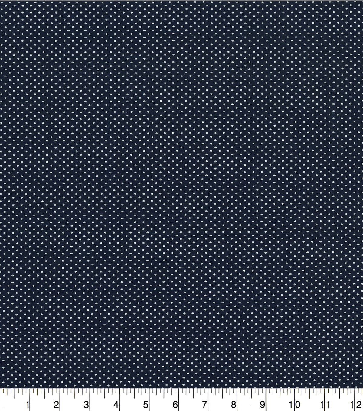 Quilter\u0027s Showcase Cotton Fabric -Pin Dots on Navy
