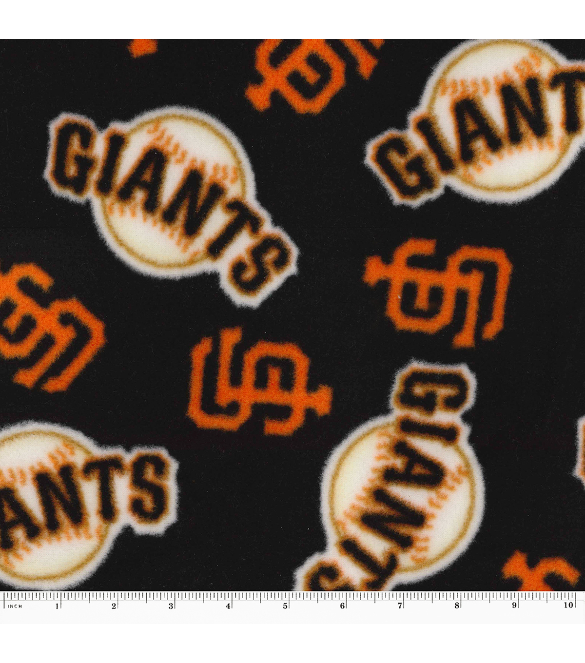 San Francisco Giants Fleece Fabric -Tossed