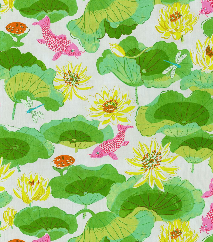 Home Decor Print Fabric Waverly Lotus Lake Blossom Joann