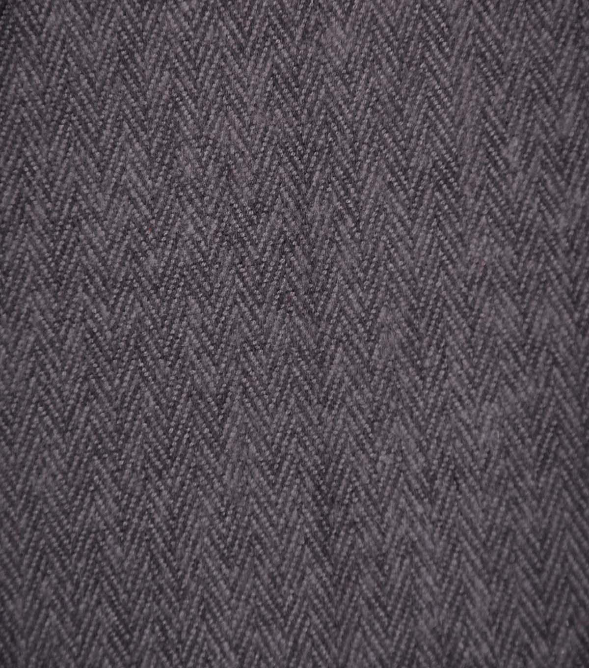 Plaiditudes Brushed Cotton Fabric 44\u0022-Herringbone Black