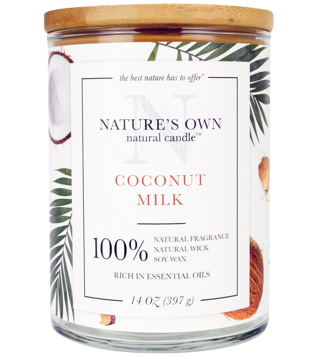 Nature\u0027s Own Natural Candle-Coconut Milk