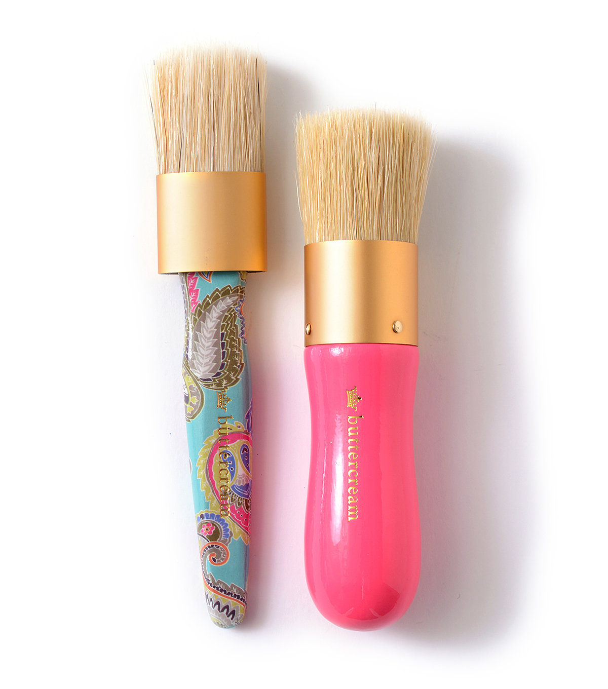 Buttercream Olivia Collection Chalk/Wax Combo Brush Set
