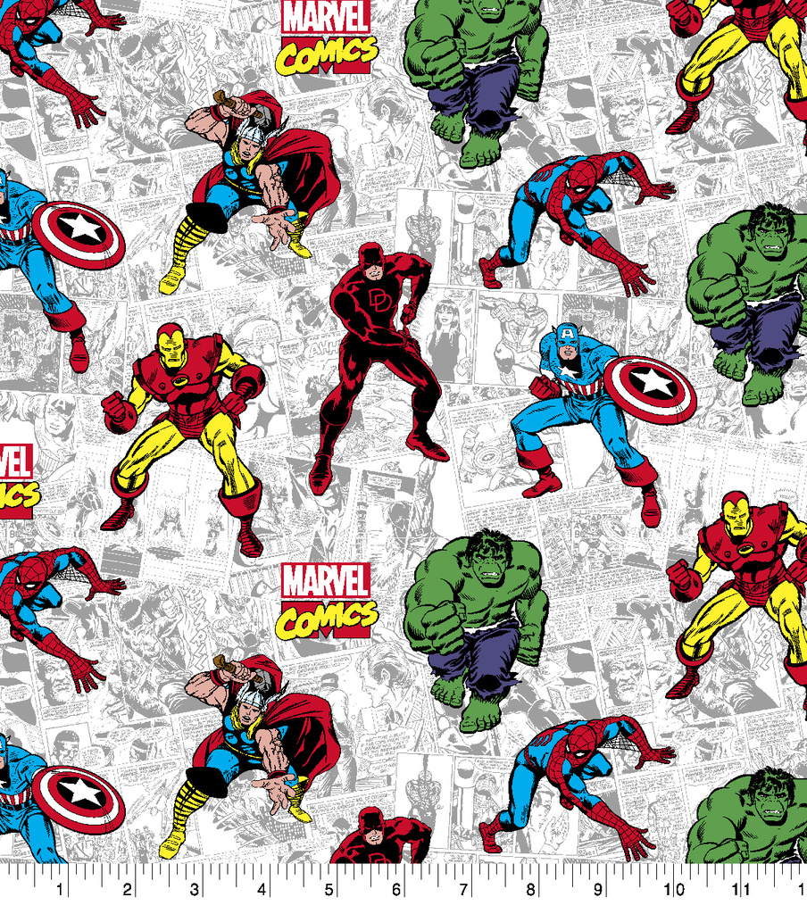 Marvel Cotton Fabric-Action Comic