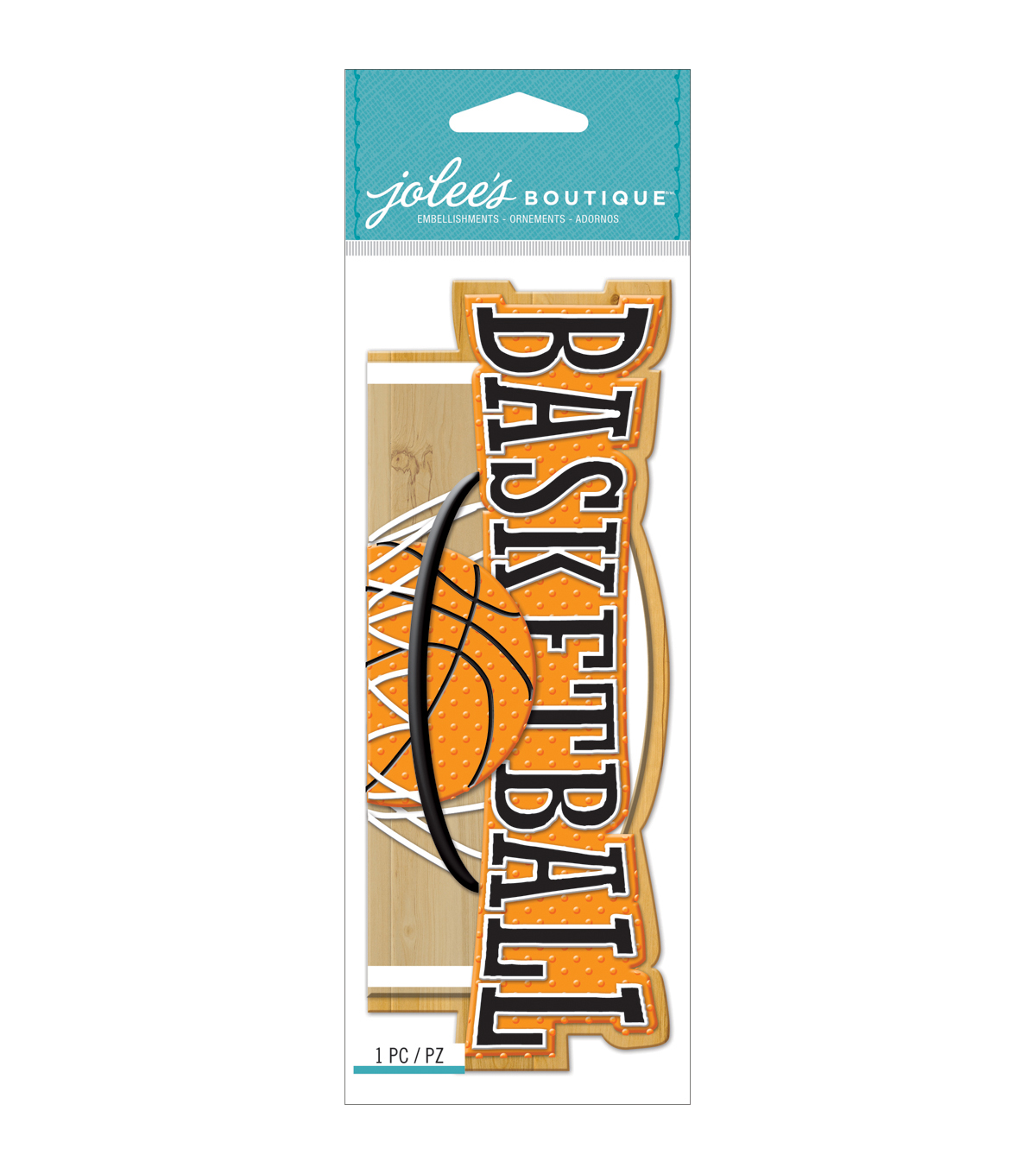 Jolee\u0027s Boutique Title Wave Dimensional Stickers-Basketball