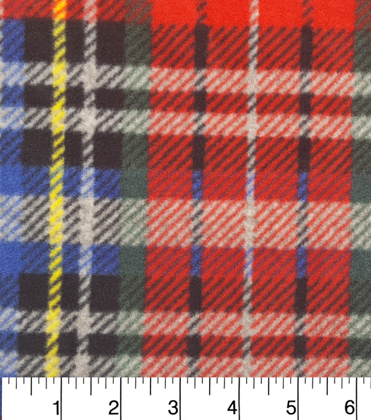 Luxe Fleece Fabric -Bright, Gray & Heathered Plaids