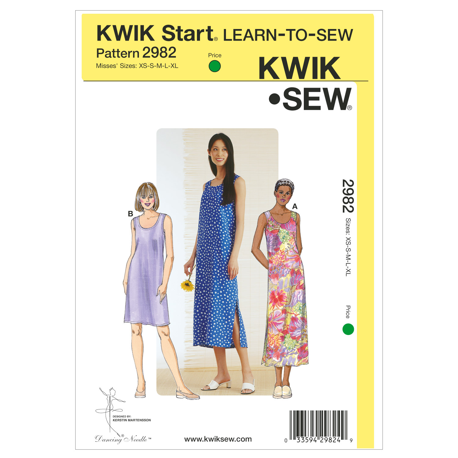 Kwik Sew Misses Dress-K2982