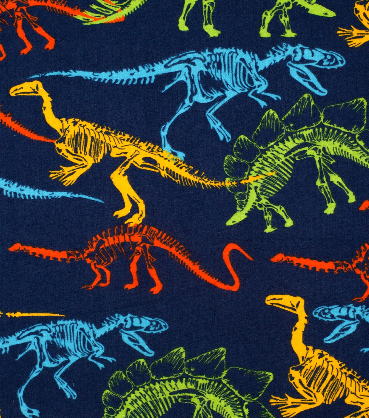 Super Snuggle Flannel Fabric-Dino Skeletons
