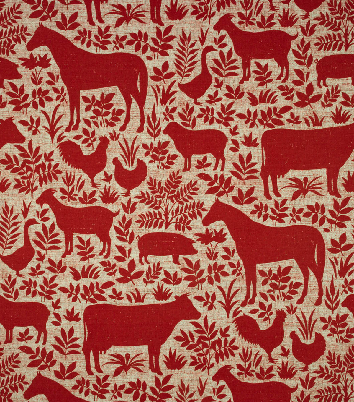 Home Essentials Home Décor Fabric- Lansbury Red