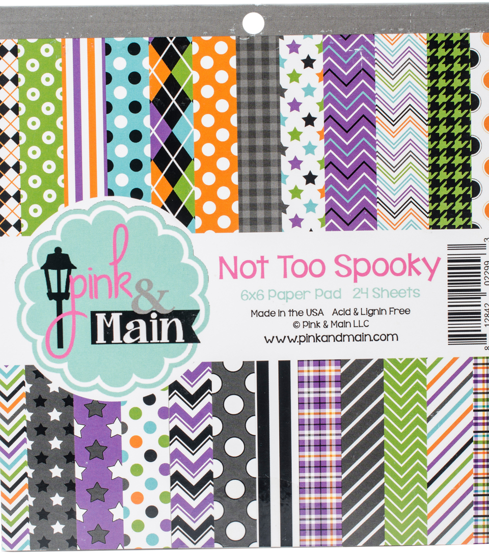 Pink & Main 24 sheet 6\u0027\u0027x6\u0027\u0027 Double-Sided Paper Pad-Not Too Spooky