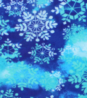 Anti-Pill Fleece Fabric 61\u0022-Snowflake White