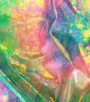 Performance Stretch Fabric-Tie Dye Oil Slick Foil Multi