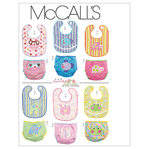 McCall\u0027s Pattern M6108 Bibs & Diaper Covers