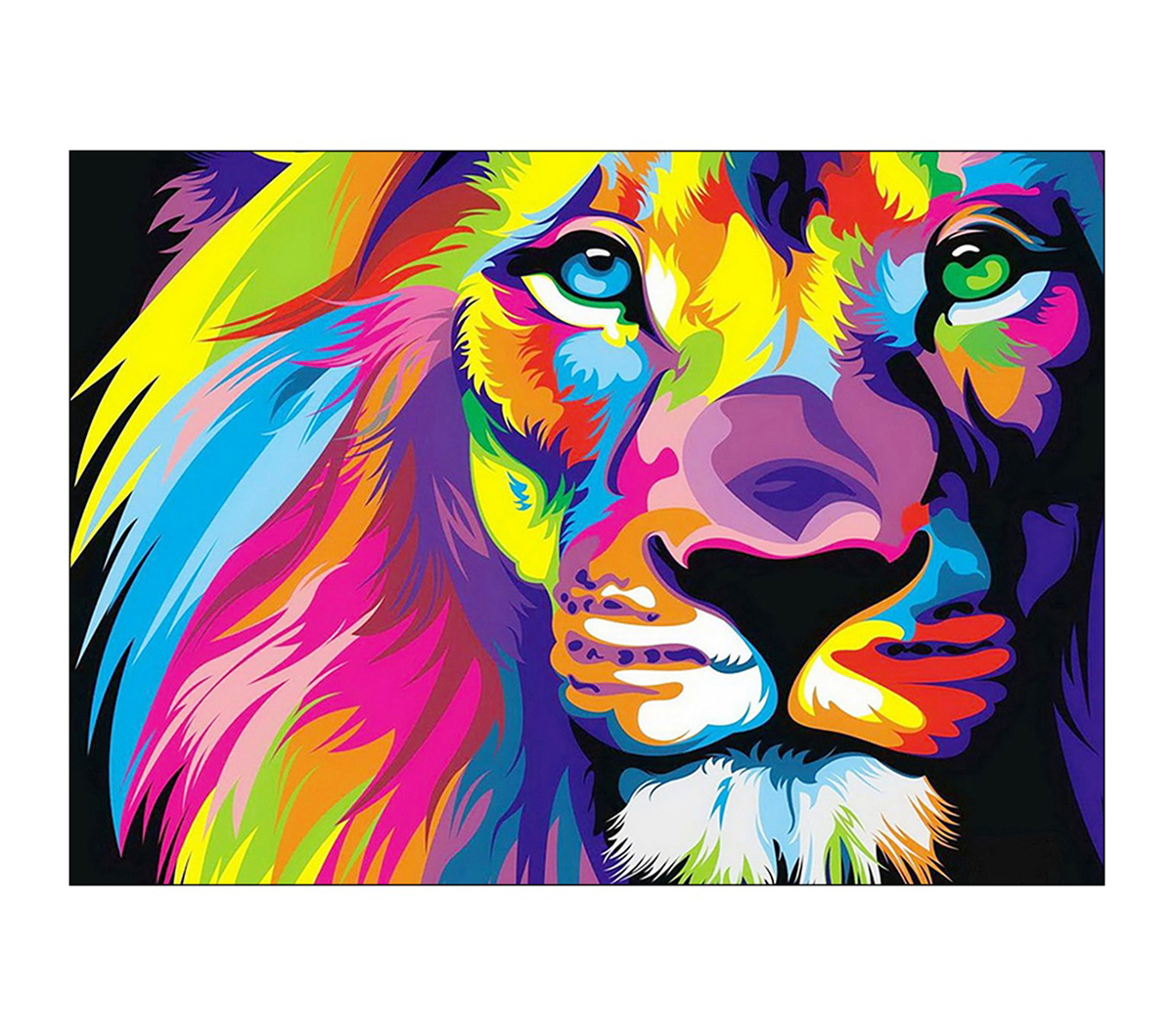 Collection D\u0027Art Diamond Embroidery/Printed/Gem Kit 27X38cm-Rainbow Lion