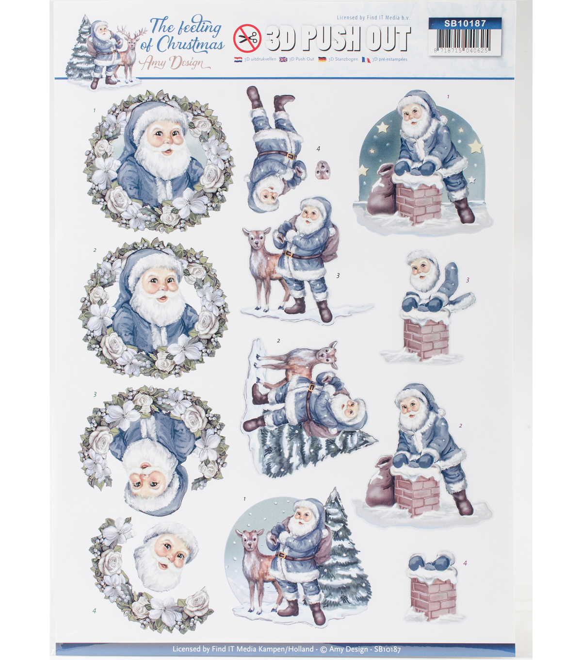 Find It Trading The Feeling of Christmas Amy Design 3D Push-outs