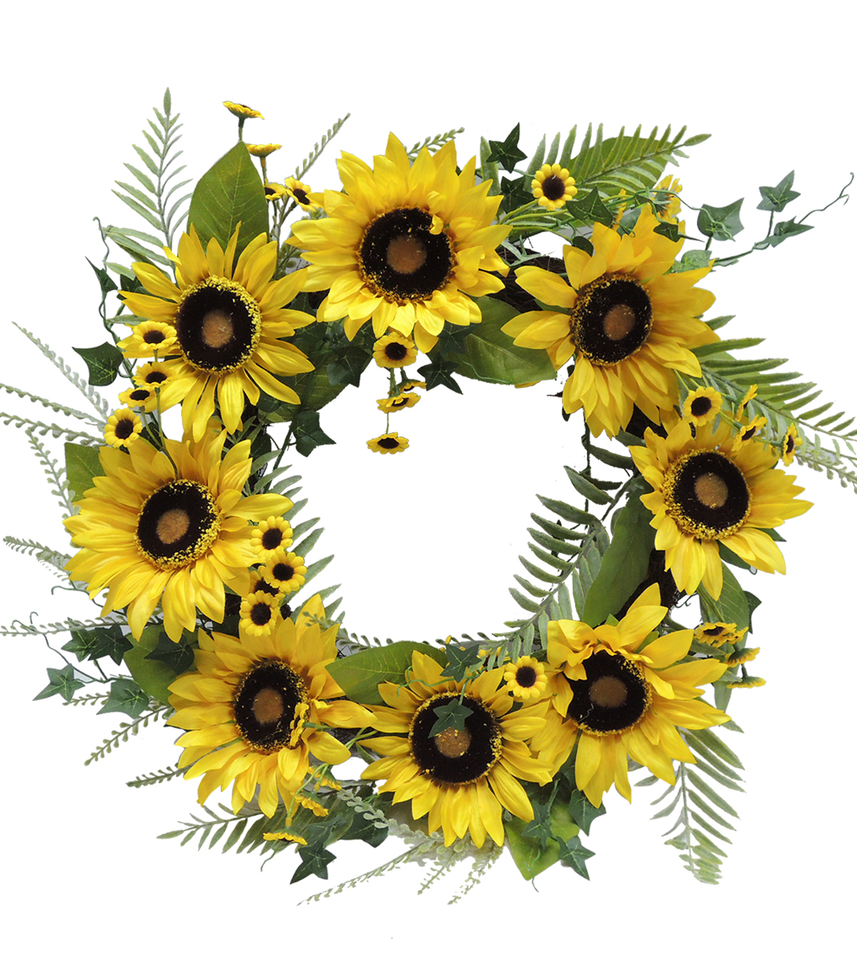 Fresh Picked Spring 23\u0027\u0027 Sunflower Wreath