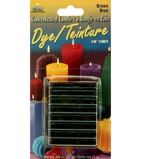 Yaley Candle Dye Blocks-.75 oz., Brown