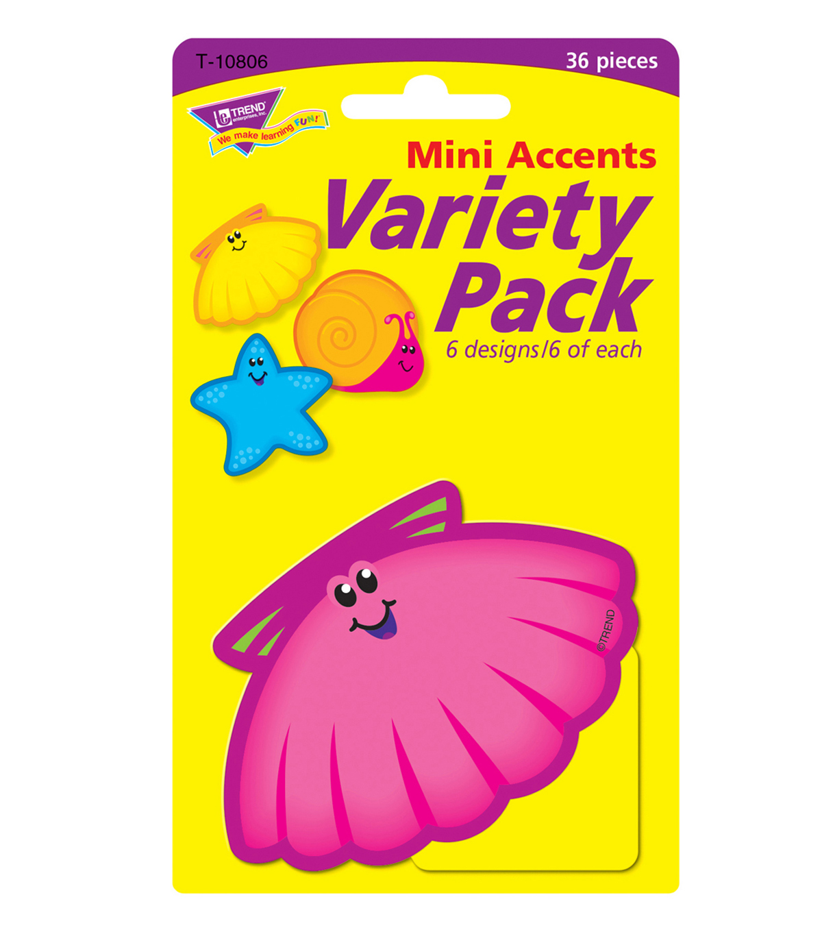 Seashore Friends Mini Accents Variety Pack, 36 Per Pack, 6 Packs