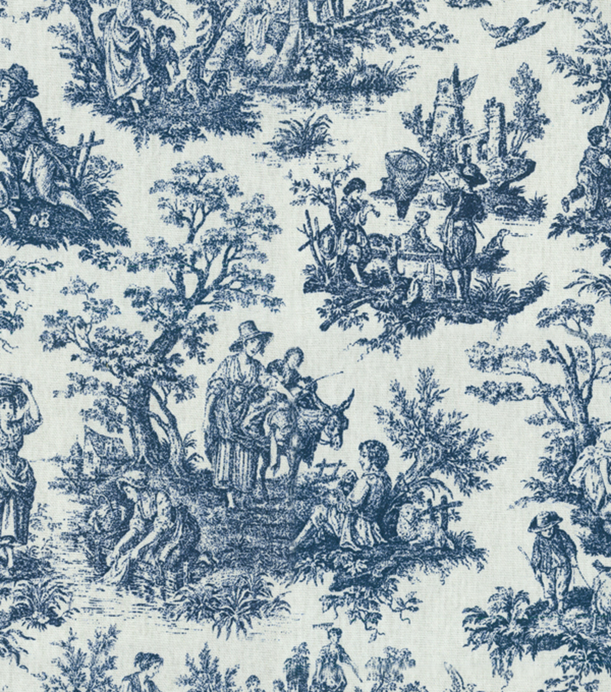 Decorating Ideas Toile Fabric: Home Decor Print Fabric-Waverly Rustic Toile Navy