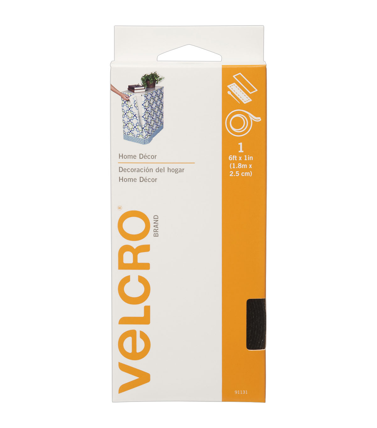 VELCRO Brand 1\u0027\u0027x 6\u0027 Home Decor Tape