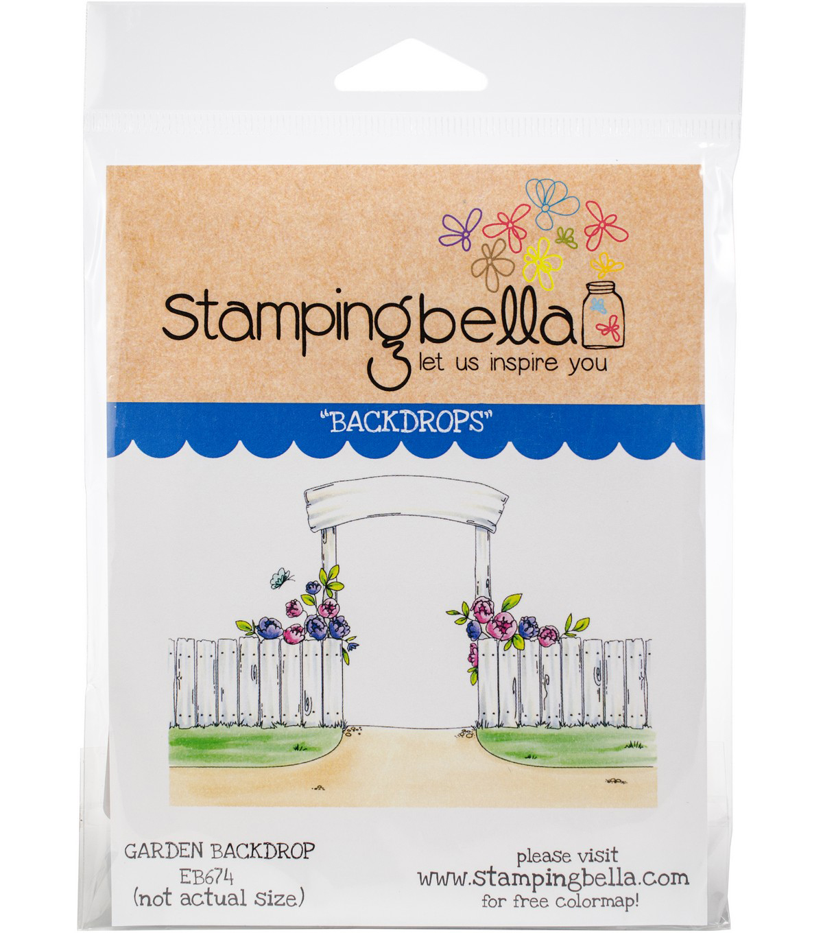 Stamping Bella Cling Stamps-Garden Backdrop