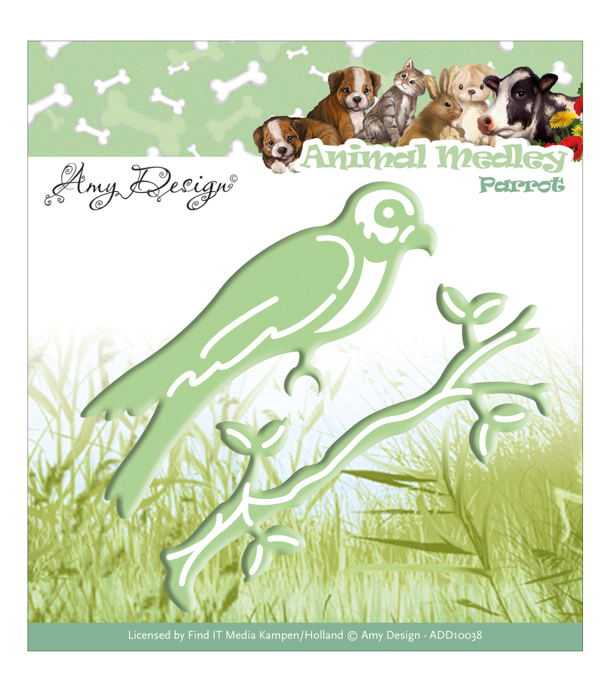 Amy Design Animal Medley Die-Parrot