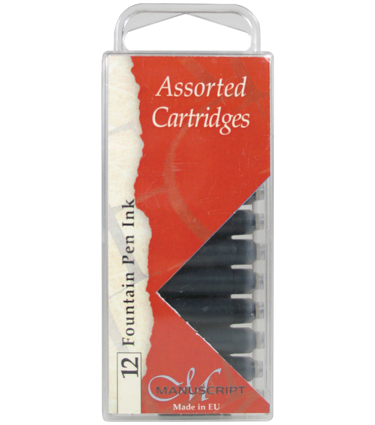 Manuscript Calligraphy Cartridge 12/Pkg-Black, Blue, Sepia
