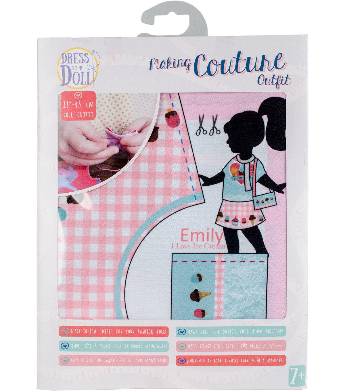 Vervaco Dress Your Doll Making Couture Outfit Set-Emily I Love Ice Cream
