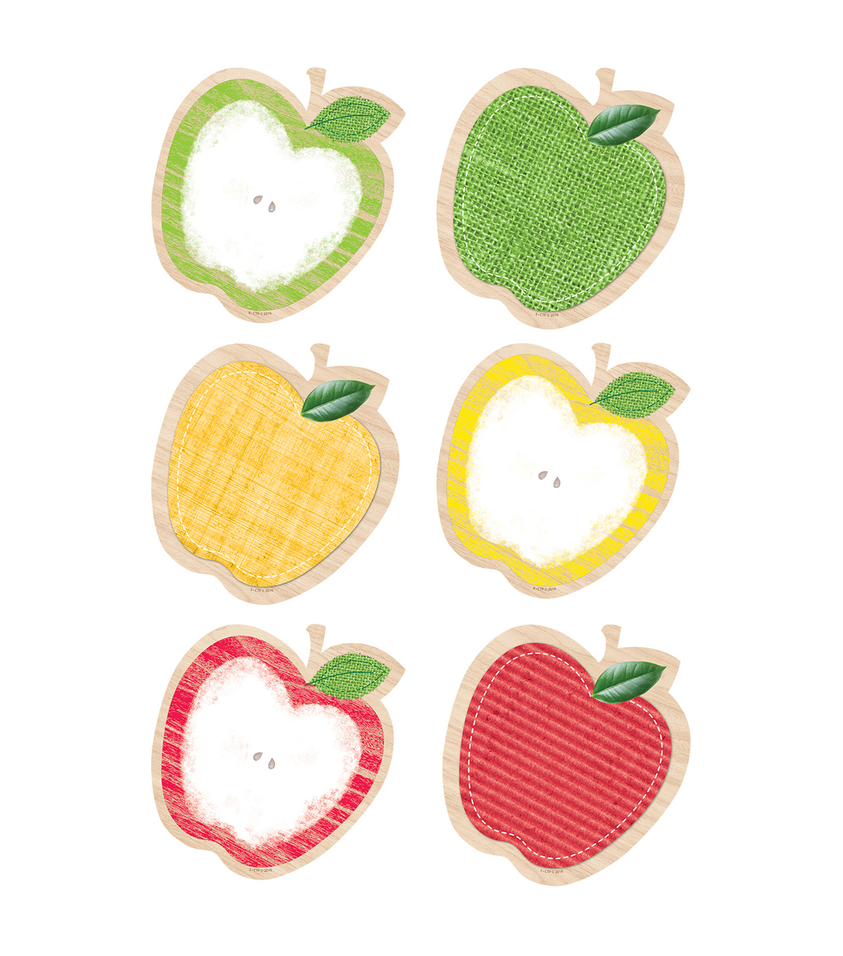 Creative Teaching Press Upcycle Style Apples 10\u0022, 12 Per Pack, 3 Packs
