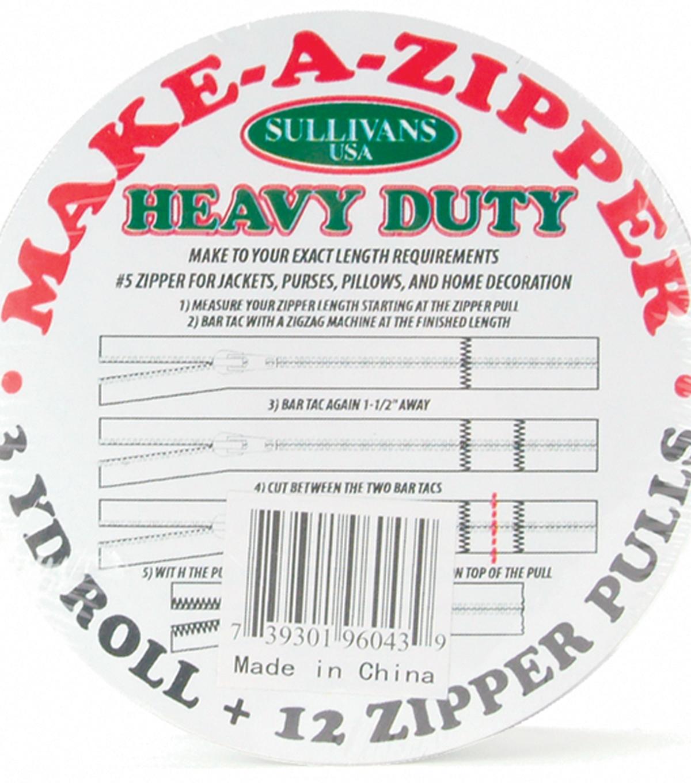 3-Yard Sullivans Heavy Duty Make-A-Zipper Kit Cream