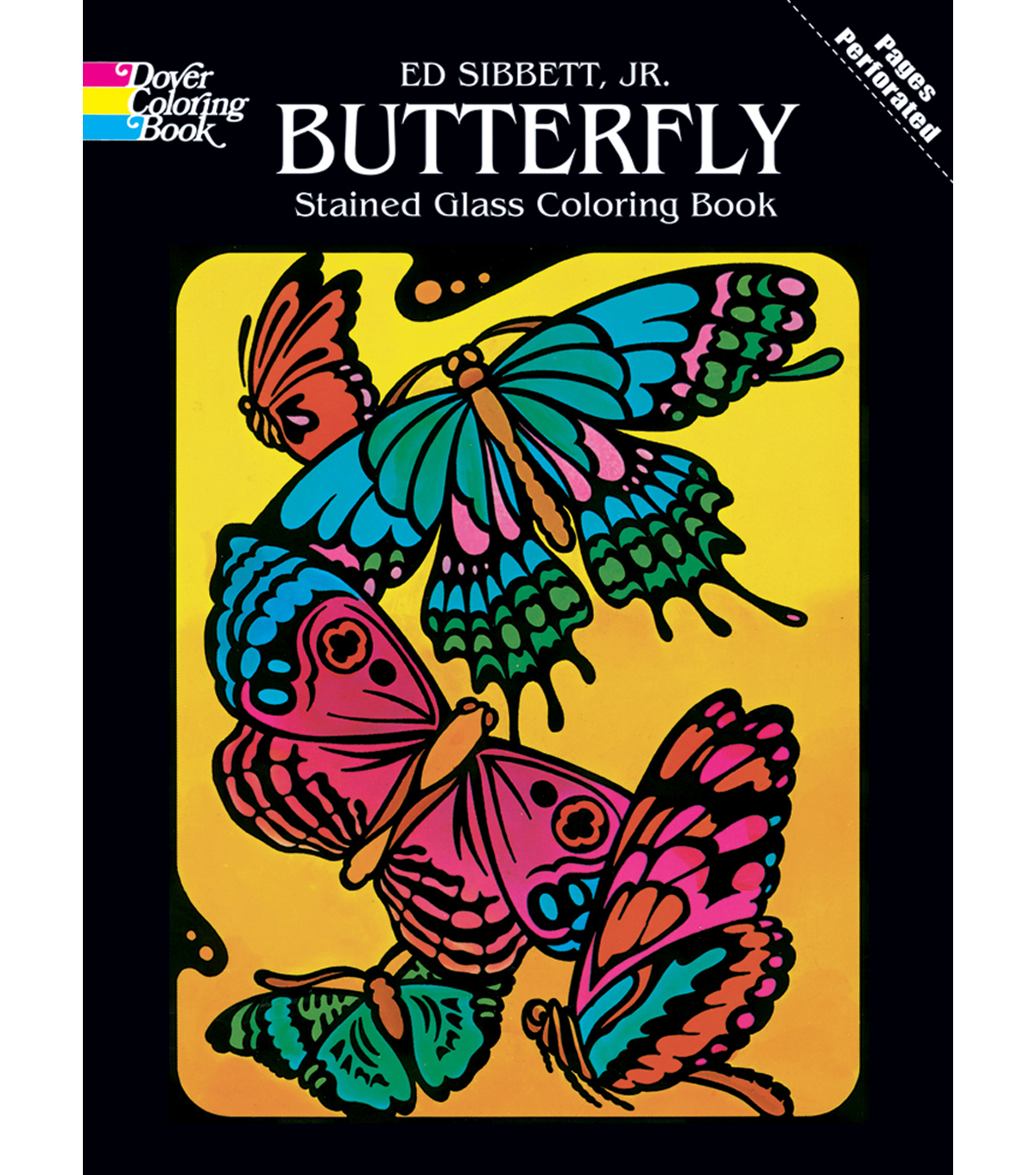 Adult Coloring Book-Dover Publications Butterfly Stained Glass