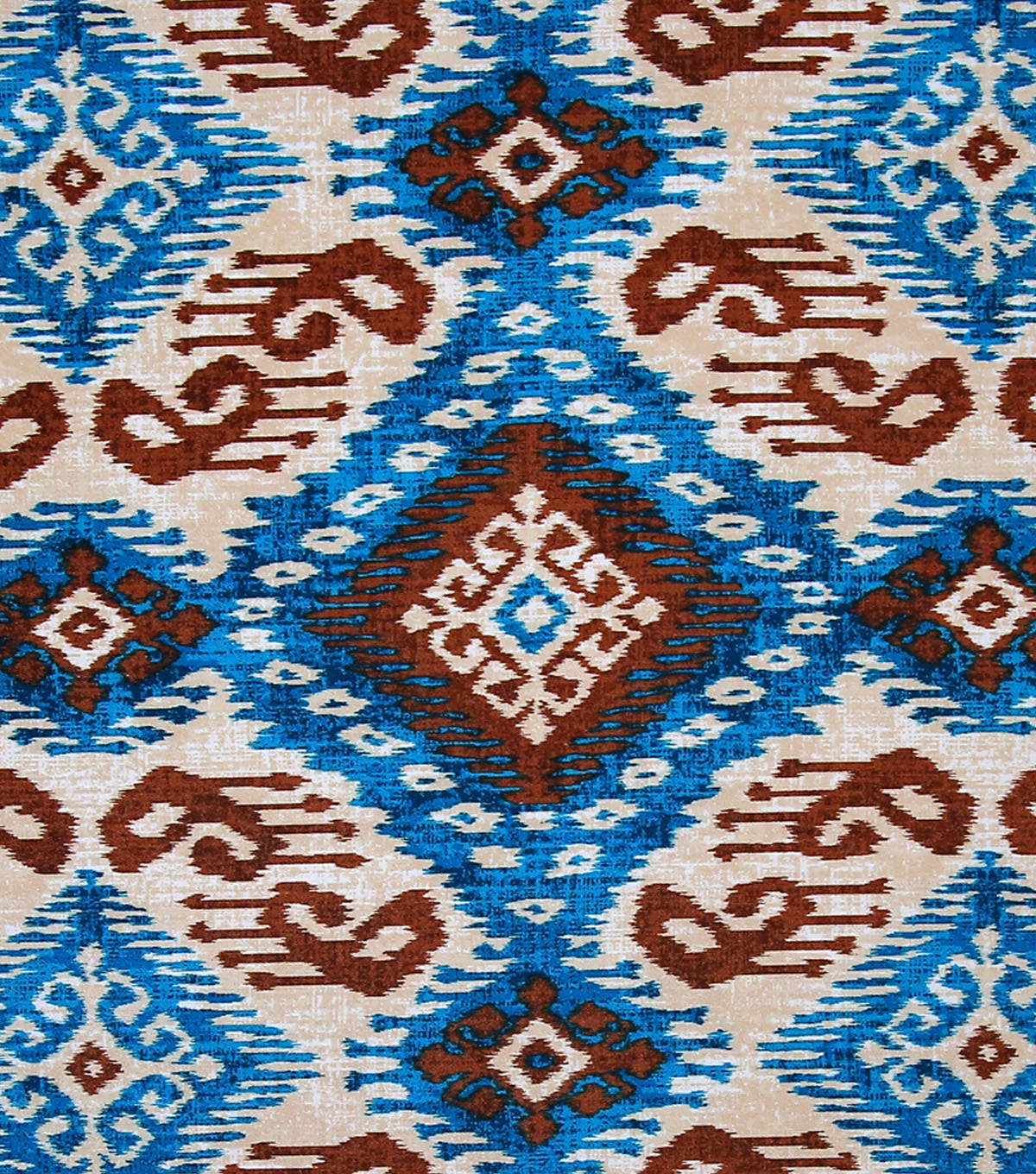 Boho Style Crepe Fabric 57\u0022-Tribal Diamonds