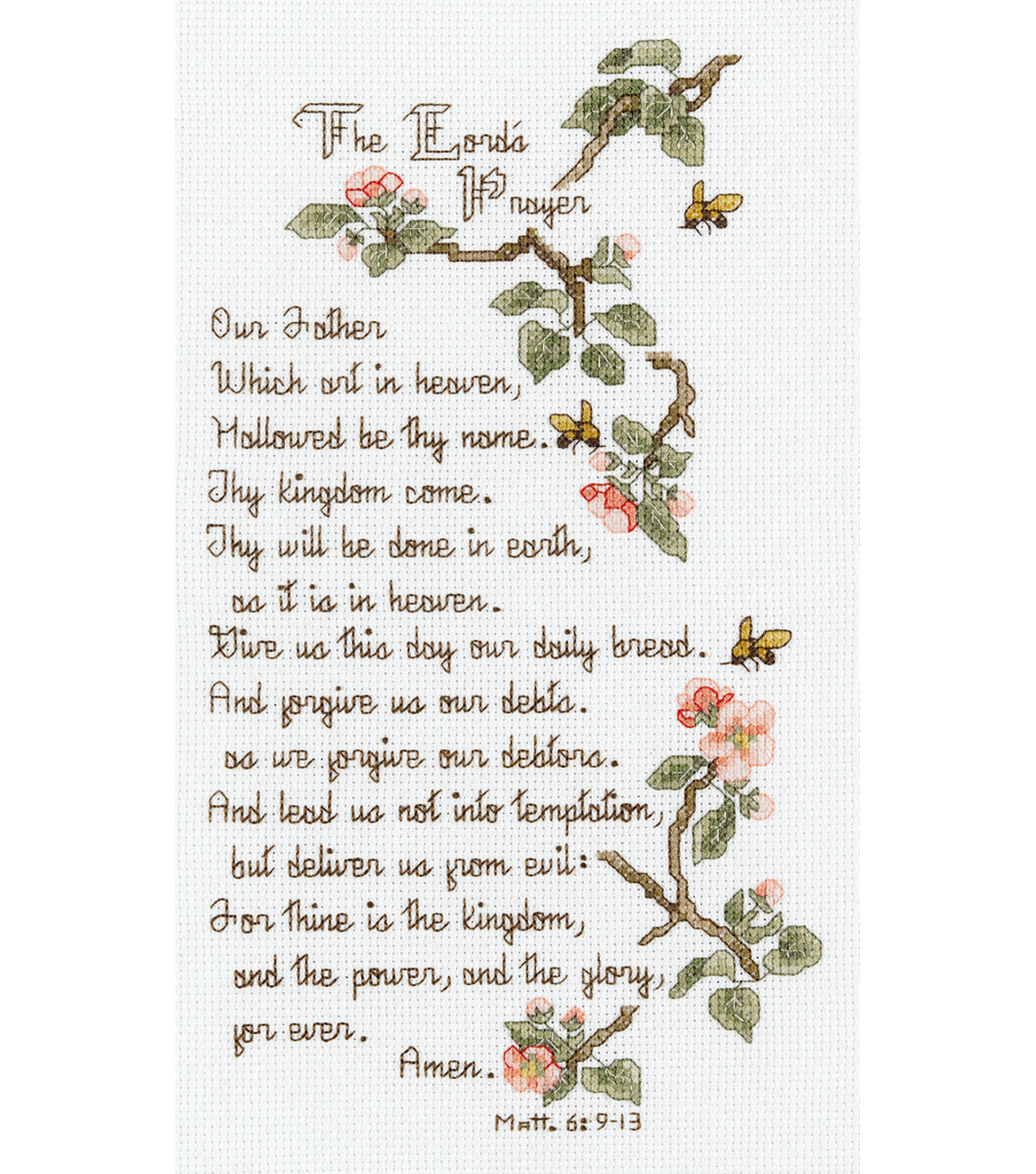 Janlynn The Lord\u0027s Prayer Counted Cross Stitch Kit