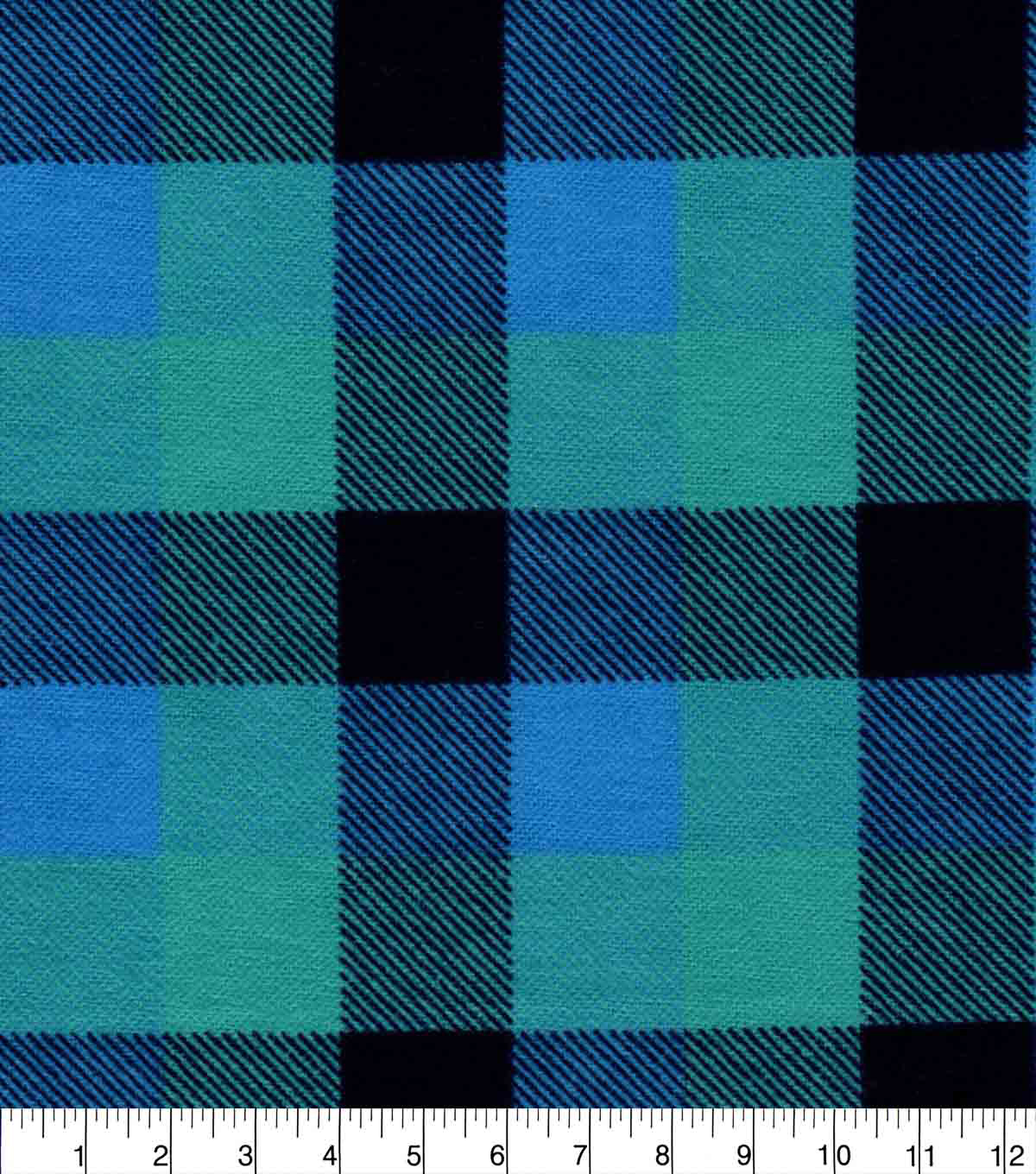 Snuggle Flannel Fabric-Blue & Navy Buffalo Check